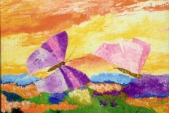 Farfalle su prato fiorito