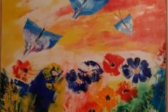 Fiori di campo e farfalle 1