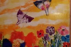 Fiori di campo e farfalle