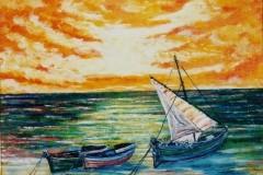 Marina al tramonto