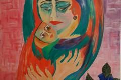 Maternità con rose