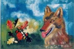 Testa di lupo con ghiande